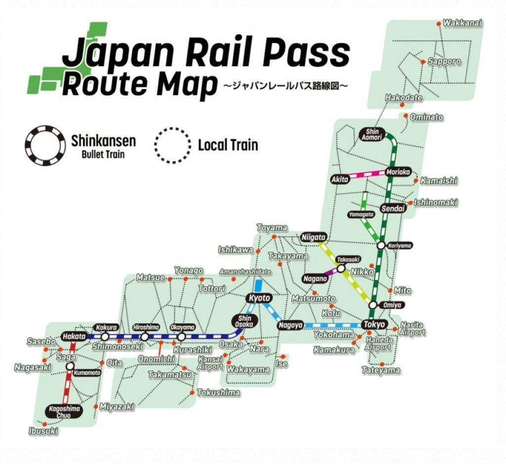 JRパスマップ